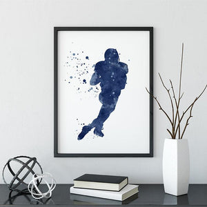 American Football Wall Art for Boys Room Decor - PrintsFinds