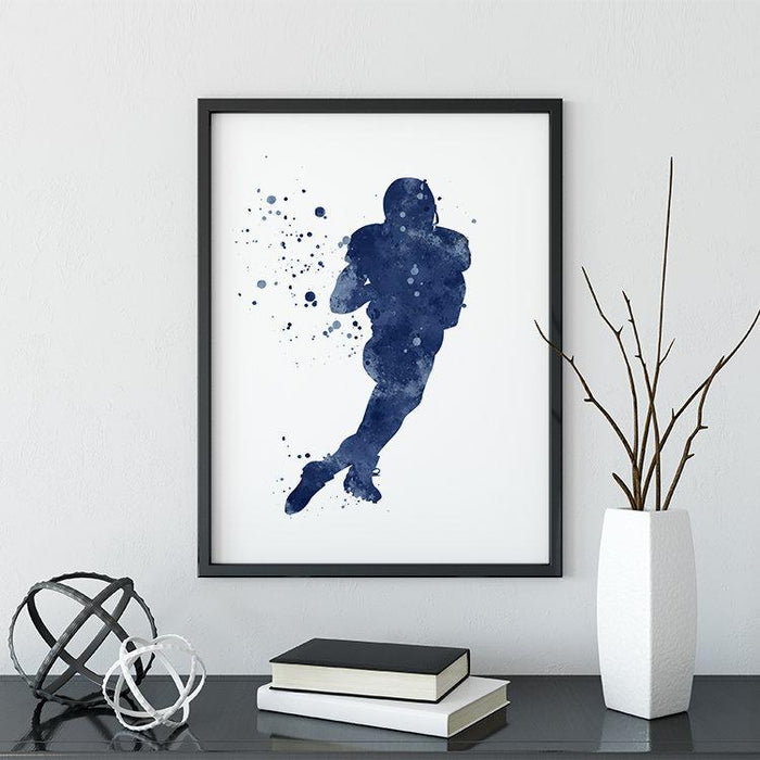 American Football Wall Art for Boys Room Decor