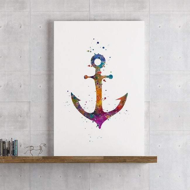 Anchor Decor for Kids Room Watercolor Print