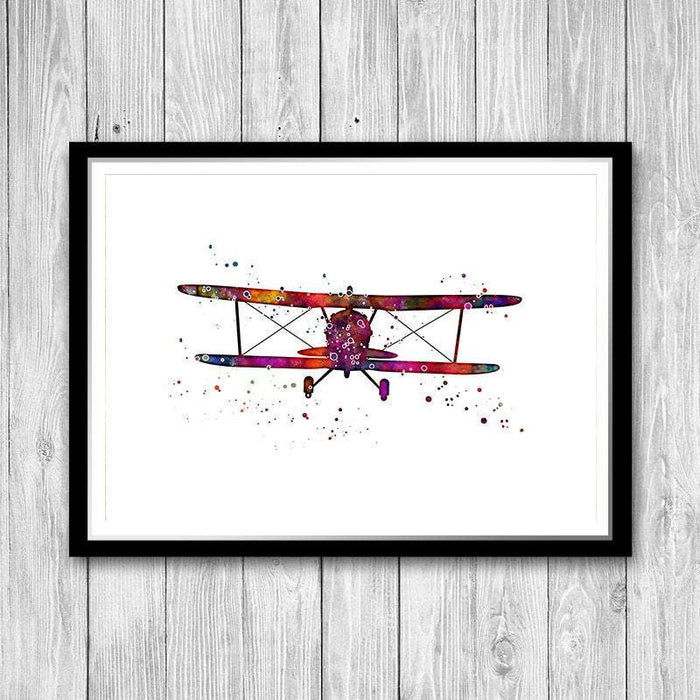 Aviation Art Watercolor Print