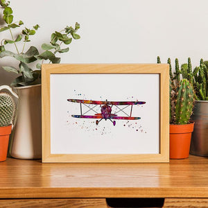 Aviation Art Watercolor Print - PrintsFinds