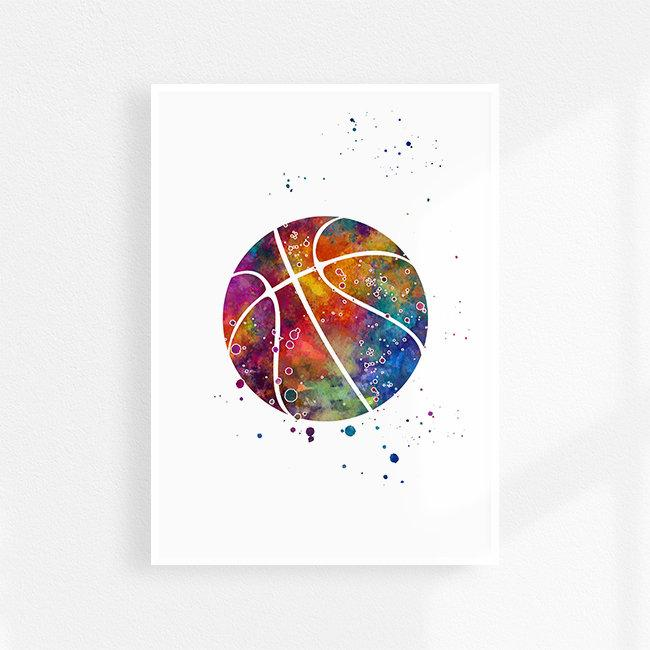 Basketball ball print