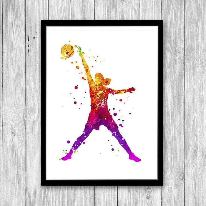 Basketball Girl Player Print