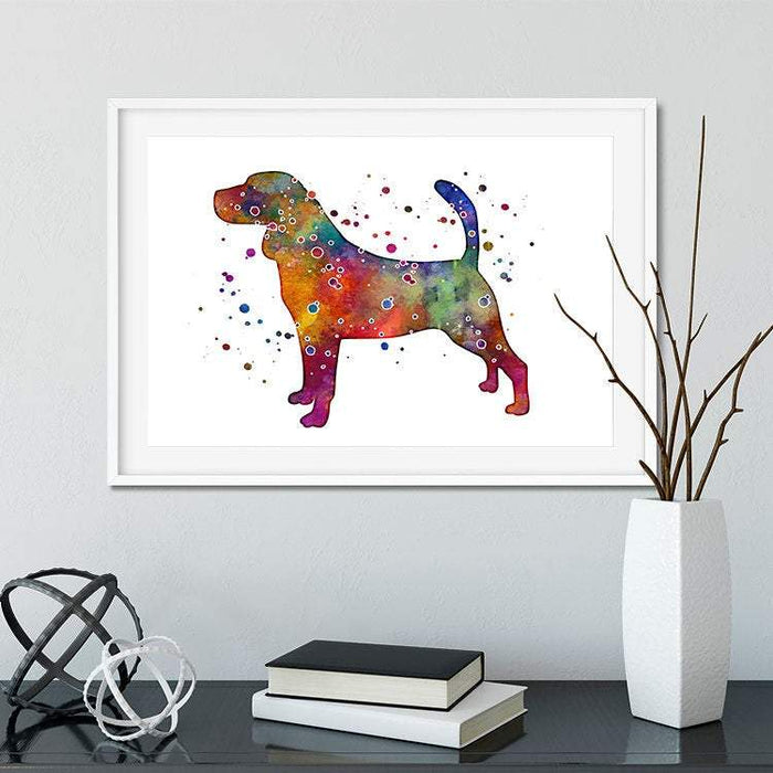 Beagle watercolor print