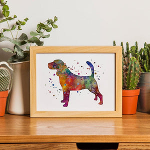 Beagle watercolor print - PrintsFinds