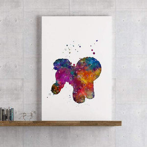 Bichon Frise Dog Watercolor Print - PrintsFinds