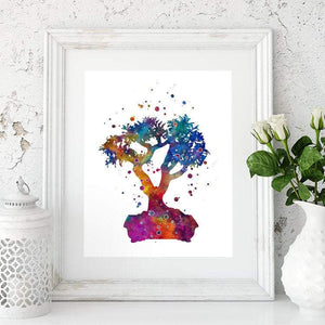 Bonsai Watercolor Print - PrintsFinds