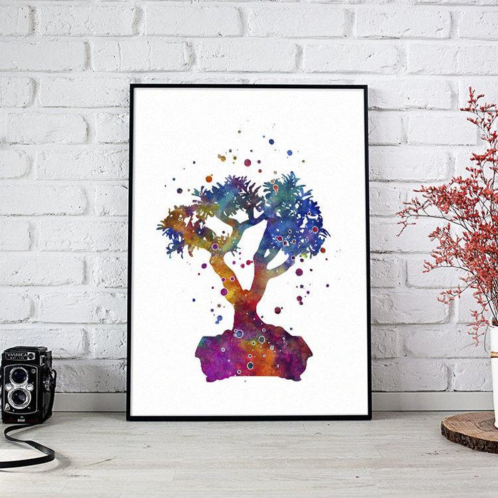 Bonsai Watercolor Print