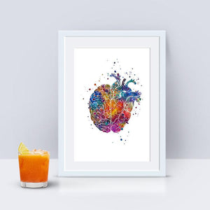 Brain And Heart Concept - PrintsFinds