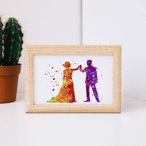 Bride and Groom Print Wedding Couples Gift - PrintsFinds