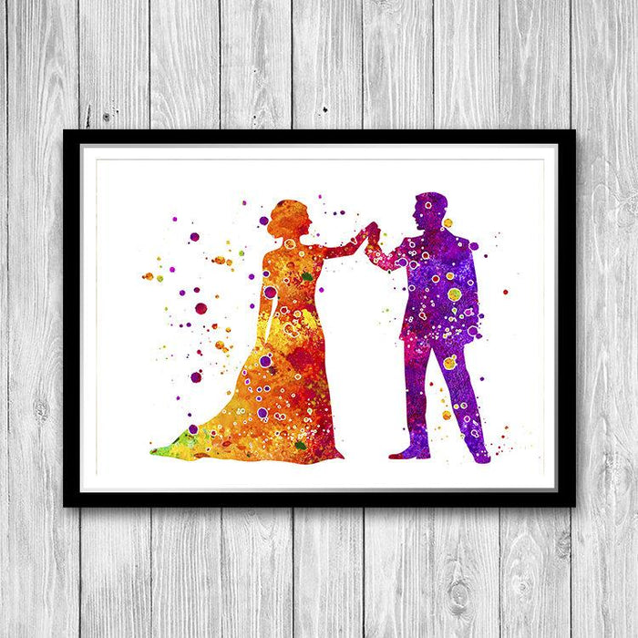 Bride and Groom Print Wedding Couples Gift