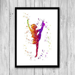 Carnival Guard Dancing Majorette Watercolor Art Print - PrintsFinds