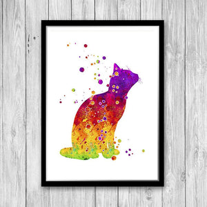 Cat art print - PrintsFinds