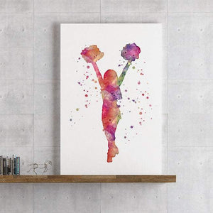 Cheerleader Girls Room Wall Decor - PrintsFinds