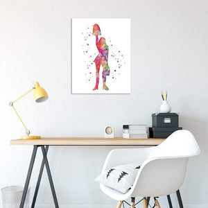 Cheerleader Watercolor Print - PrintsFinds