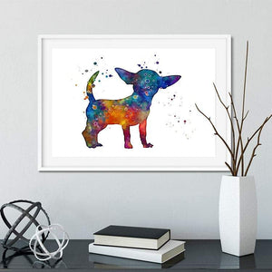 Chihuahua Watercolor Print Dog Lover gift - PrintsFinds