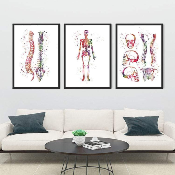 Chiropractic Clinic Wall Decor Set of 3 Prints