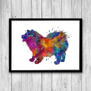 Chow Chow dog art Watercolor Print - PrintsFinds