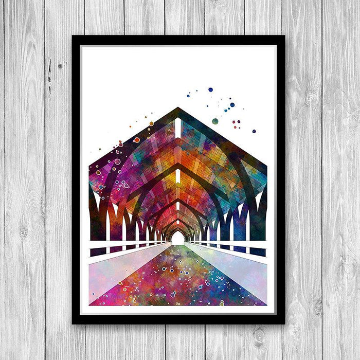 City Tunnel Watercolor Print Civil Engineer Office Decor
