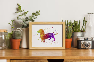 Dachshund Dog Art print, Present for Dog Lovers - PrintsFinds