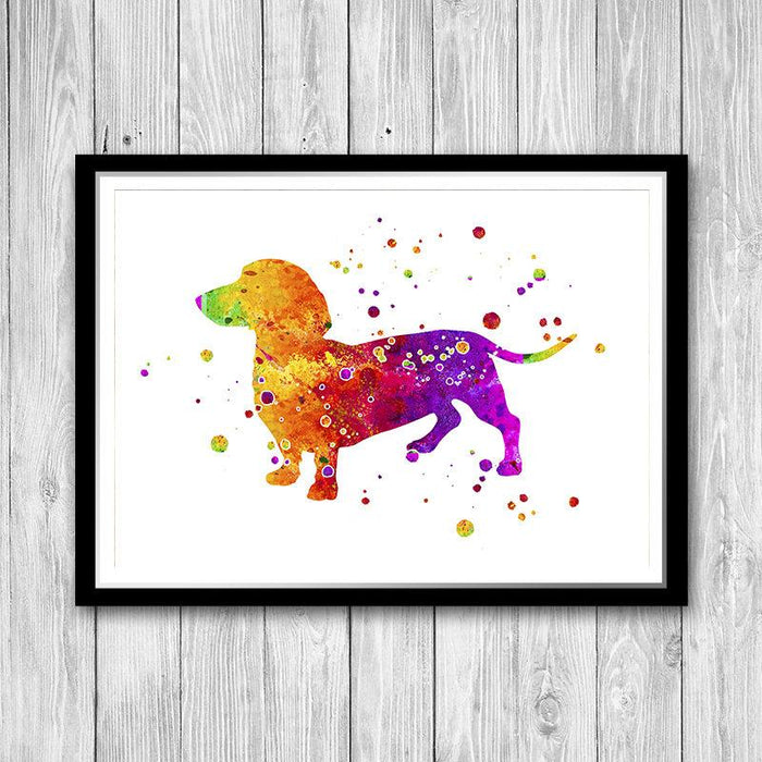Dachshund Dog Art print, Present for Dog Lovers