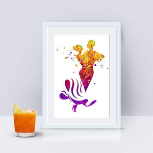 Dancing Couple Watercolor Art Poster Dance Club Wall Decor - PrintsFinds