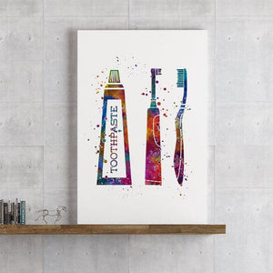 Dental Hygienist Gift Set of 3 Watercolor Prints - PrintsFinds