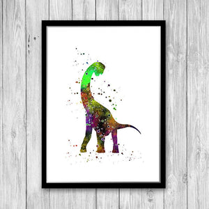 Dinosaur Decor For Boys Room, Watercolor art print - PrintsFinds