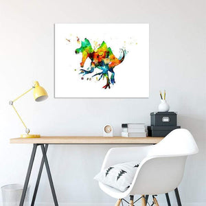 Dinosaur Decor for Kids room, boys room wall art, Watercolor Print - PrintsFinds