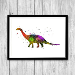 Dinosaur Painting Poster Kids Bedroom Wall Art - PrintsFinds