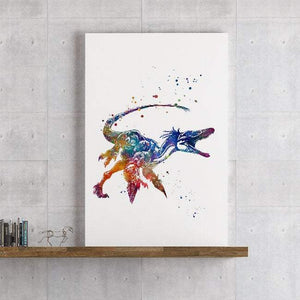 Dinosaur print, decor for boys room, watercolor dinosaur wall art - PrintsFinds