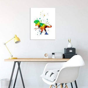 Dinosaur Print for Kids Room Wall Art Tyrannosaurus Rex Poster - PrintsFinds