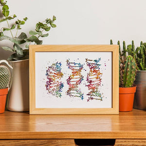 DNA Science Art Watercolor Print Biology Teacher Graduation Gift - PrintsFinds