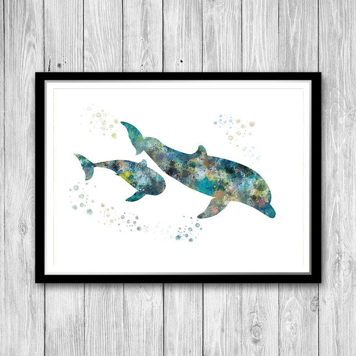 Dolphin, Nautical Nursery Print
