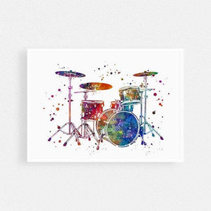 Drums print Music room wall decor Drummer, Musician gift - PrintsFinds
