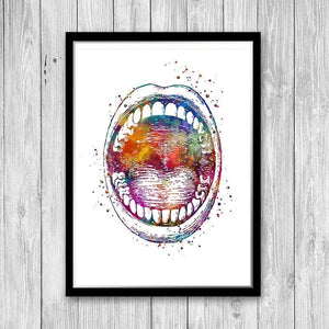 Ear Nose and Throat Watercolor Prints set of 3 - PrintsFinds