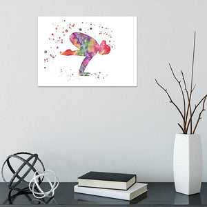 Exercise Gym Yoga Print, Watercolor Yoga Pose Art Print - PrintsFinds