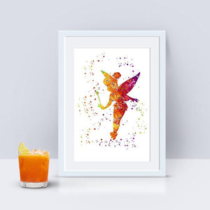 Fairy print watercolor wall art for girls room decor - PrintsFinds