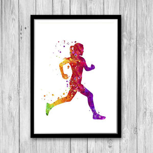 Female Runner - PrintsFinds