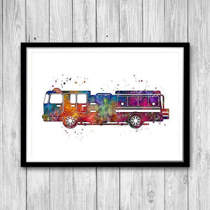 Fire Truck for Kids Room Decor - PrintsFinds
