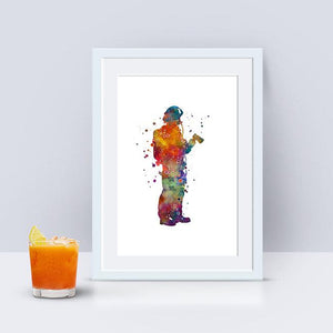 Firefighter gift for boys Fireman art print - PrintsFinds