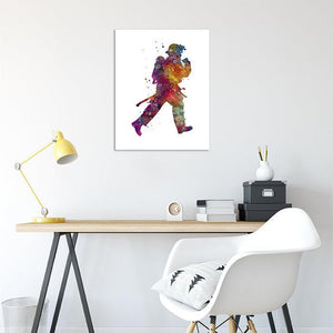 Firefighter print Fireman watercolor poster - PrintsFinds
