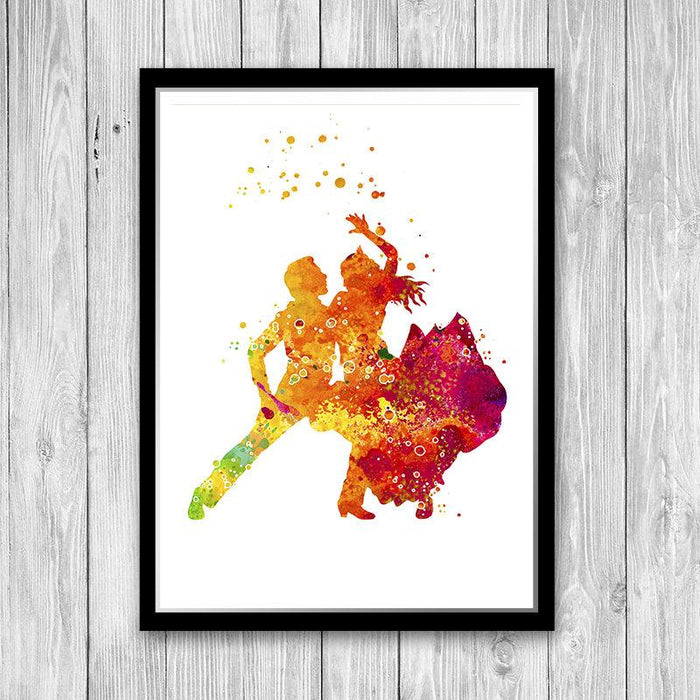 Flamenco art poster, Flamenco dancer print