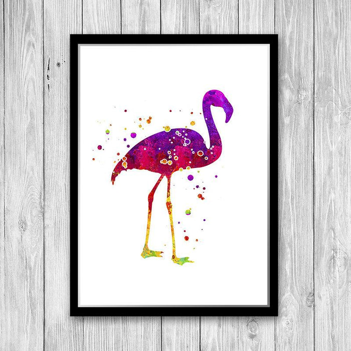 Flamingo Print, Watercolor Art Poster