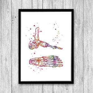 Foot and Ankle Anatomy Art - PrintsFinds
