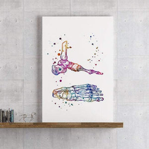 Foot and Ankle Bones Anatomy Art Print - PrintsFinds
