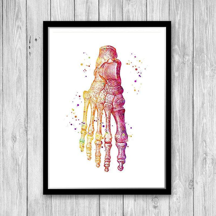 Foot art print, Gift for orthopedic surgeon