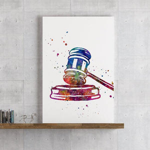 Gavel Judge Hammer Lawyer Attorney Office Decor - PrintsFinds