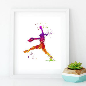 Girls Softball Print - PrintsFinds