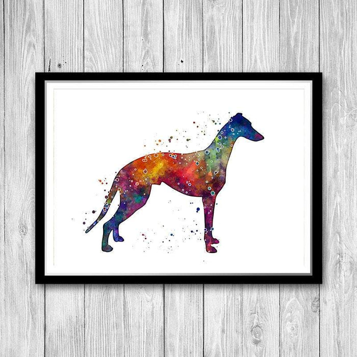 Greyhound watercolor art print